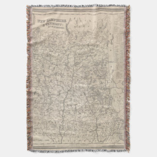 New Hampshire and Vermont 2 Throw Blanket