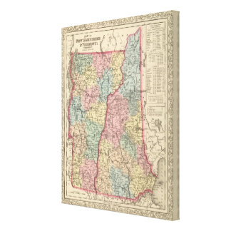 New Hampshire and Vermont Canvas Print