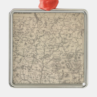 New Hampshire and Vermont Christmas Ornament
