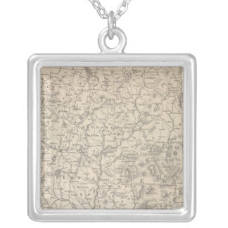 New Hampshire and Vermont Silver Plated Necklace