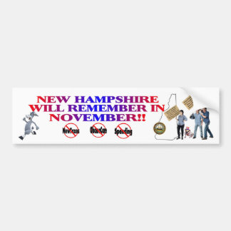 New Hampshire Anti ObamaCare, New Taxes & Spending Bumper Sticker