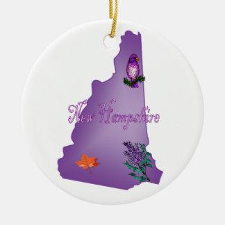 New Hampshire Christmas Tree Ornament