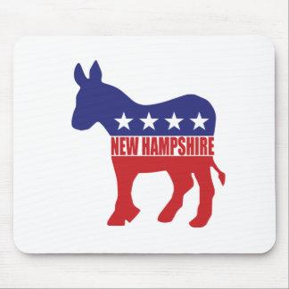 New Hampshire Democrat Donkey Mousepads