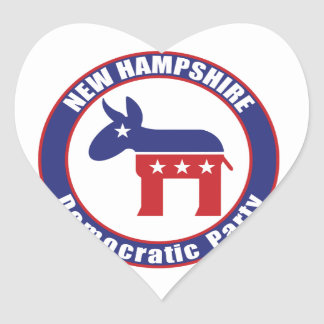 New Hampshire Democratic Party Heart Stickers