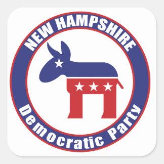 New Hampshire Democratic Party Square Stickers