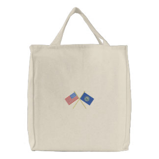 New Hampshire Embroidered Tote Bag