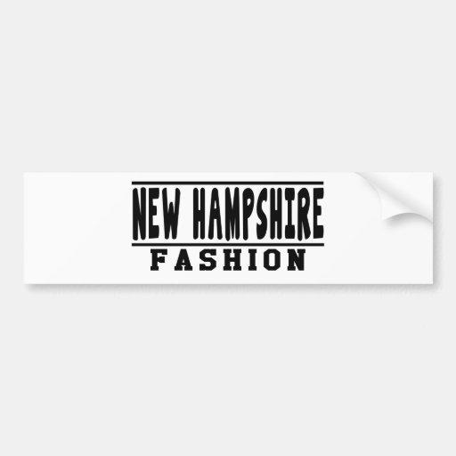 New Hampshire Fashion Designs Bumper Sticker
