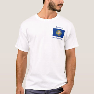 New Hampshire Flag Map City T-Shirt
