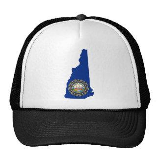 New Hampshire Flag Map Hats