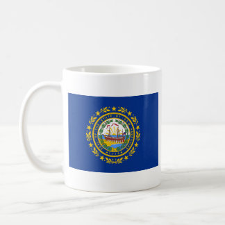 New Hampshire Flag + Map Mug