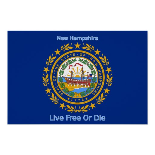 New Hampshire Flag Print