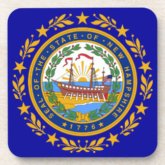 New Hampshire Flag Seal Coasters