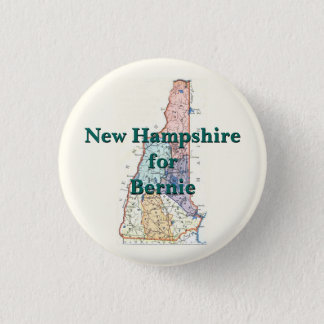 New Hampshire for Bernie 2016 3 Cm Round Badge