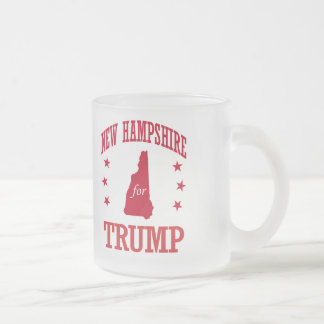 NEW HAMPSHIRE FOR DONALD TRUMP FROSTED GLASS COFFEE MUG