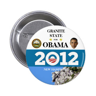 NEW HAMPSHIRE FOR OBAMA 2012 political pinback but 6 Cm Round Badge