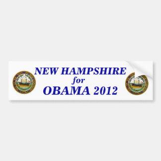 New Hampshire for Obama 2012 sticker Bumper Sticker