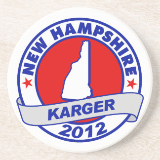New Hampshire Fred Karger Beverage Coasters