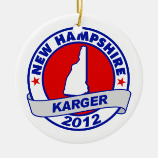 New Hampshire Fred Karger Christmas Tree Ornaments