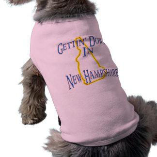 New Hampshire - Gettin' Down Sleeveless Dog Shirt