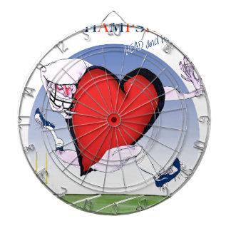 new hampshire head heart, tony fernandes dartboard