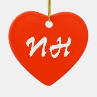 New Hampshire Heart Ornament