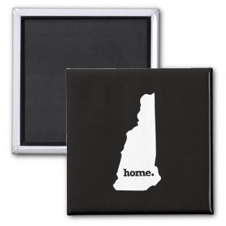 New Hampshire Home Square Magnet