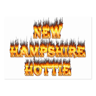 New hampshire hottie fire and flames business card templates