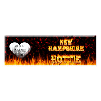New Hampshire Hottie fire and red marble heart. Pack Of Skinny Business Cards