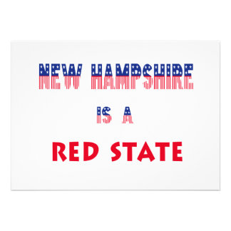 New Hampshire is a Red State Custom Announcements