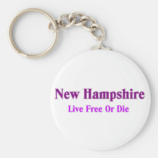 New hampshire-Live free or die Basic Round Button Key Ring