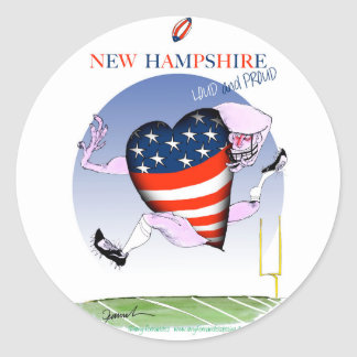 new hampshire loud and proud, tony fernandes round sticker