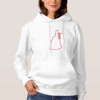 New Hampshire Love State Silhouette Hoodie