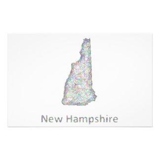 New Hampshire map 14 Cm X 21.5 Cm Flyer