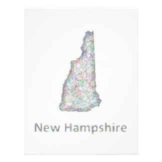 New Hampshire map 21.5 Cm X 28 Cm Flyer