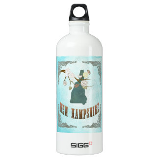New Hampshire Map With Lovely Birds SIGG Traveller 1.0L Water Bottle