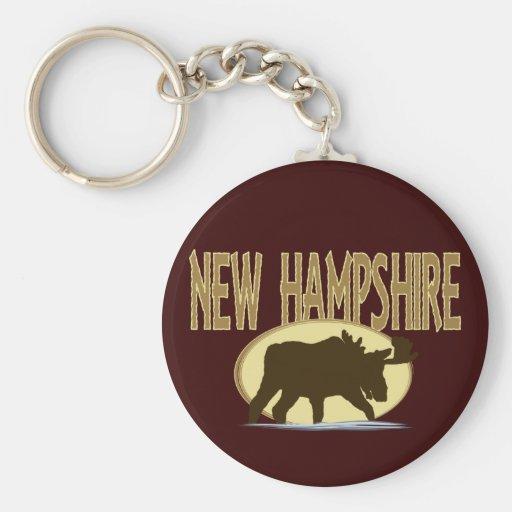 New Hampshire Moose Key Chain