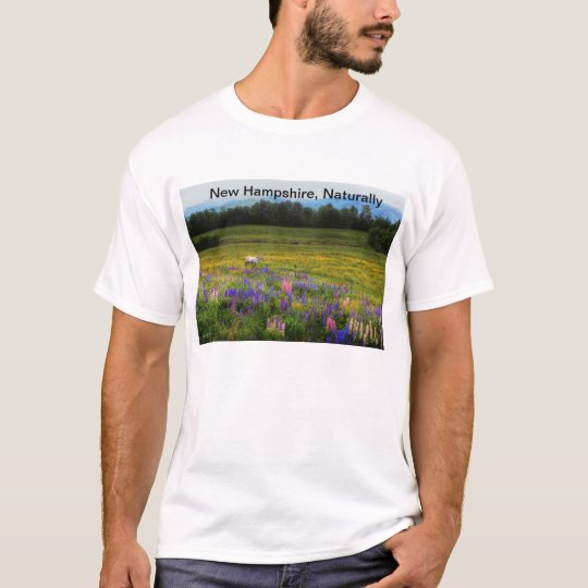 New Hampshire, Naturally - Horse in Lupines T-Shirt