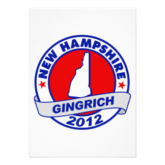 New Hampshire Newt Gingrich Invitations
