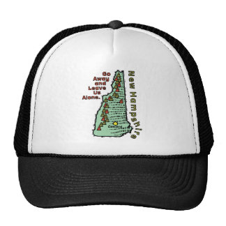 New Hampshire NH Motto ~ Go Away & Leave Us Alone Trucker Hats