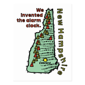 New Hampshire NH Motto ~ We Invented The Alarm Postcard