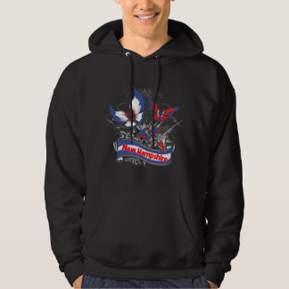 New Hampshire Patriotism Butterfly Hoodie