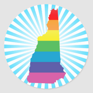 new hampshire pride. round sticker