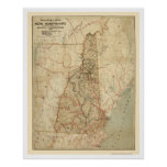 New Hampshire Railroad Map 1894 Poster