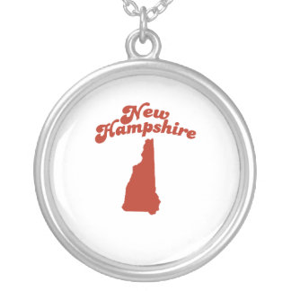 NEW HAMPSHIRE Red State Round Pendant Necklace