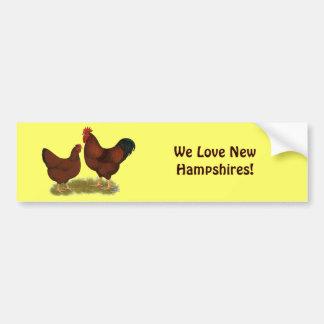 New Hampshire Reds Bumper Sticker