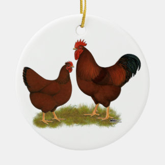 New Hampshire Reds Christmas Ornament