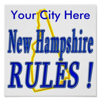 New Hampshire Rules ! Posters