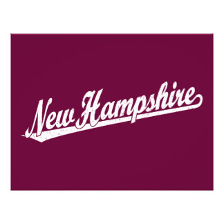 New Hampshire script logo in white distressed Custom Flyer
