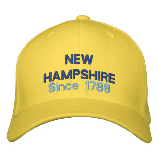 New Hampshire Since 1788 Embroidered Hat