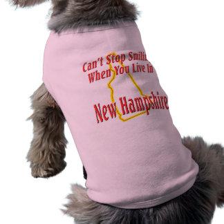 New Hampshire - Smiling Sleeveless Dog Shirt